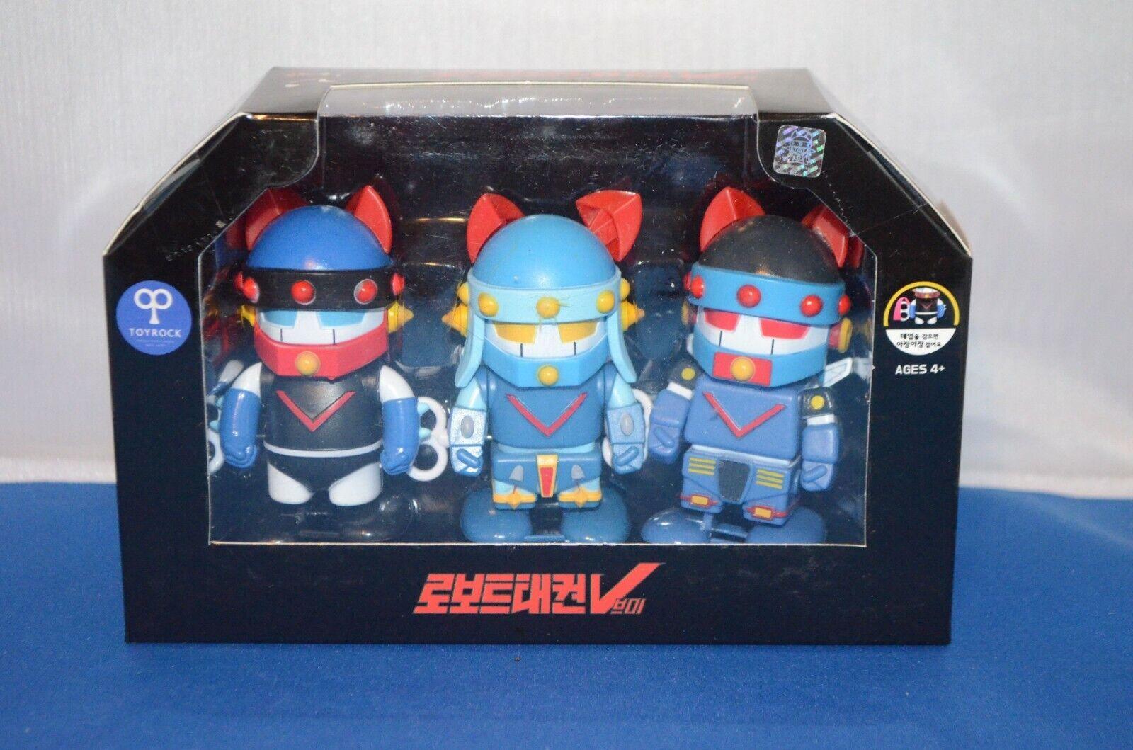 3 specialee Wind Up Robot TAEKWON V edizione Shogun giocattoli