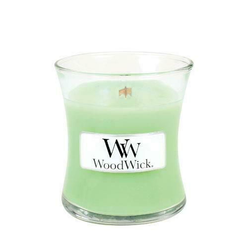 Woodwick Small Scented Jar Candle White Willow Moss