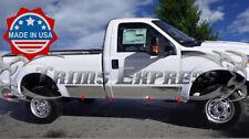 "11-16 F-250//Super Duty Regular Cab Long Bed Rocker Panel Trim 10.5/"" Stainless"