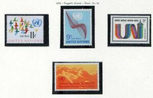 19127-UNITED-NATIONS-New-York-1972-MNH-Nuovi-Air-Mail-4v