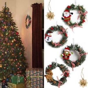 Mini-Christmas-Wreath-Decor-Wall-Door-Hanging-Ornament-Garland-Xmas-Party-FH