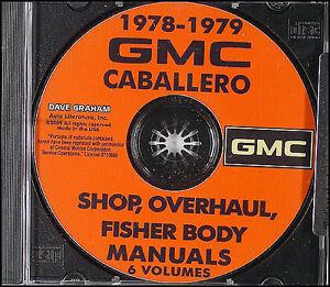 1978-1979 gmc caballero shop manual on cd-rom with body ... 1983 gmc caballero wiring diagram 1983 pontiac radio wiring diagram