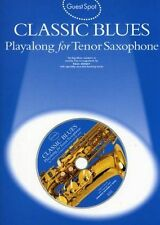 Guest Spot: Classic Blues Playalong For Tenor Saxophone, New, Paul Honey Book
