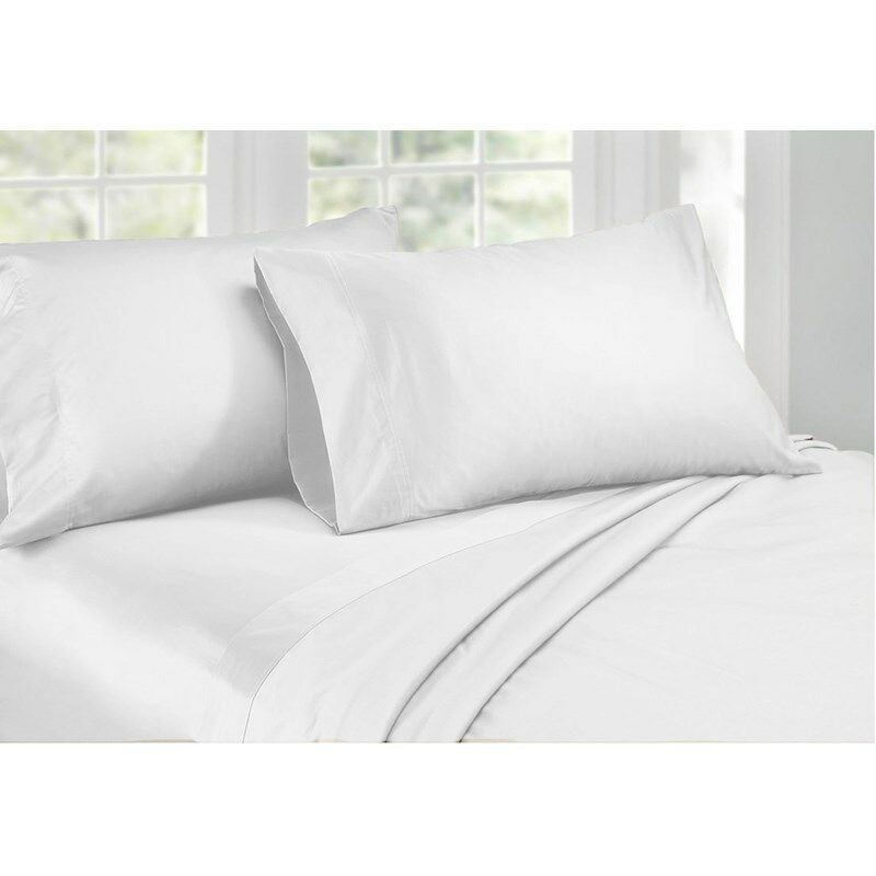 Ardor 1000TC Cotton Rich Sheet Set King & Queen Bed Weiß