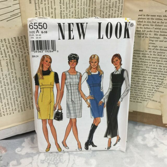 c82c85bc6 New Look 6550 Cute sleeveless mod dress vintage UNCUT sewing Pattern size  6-16