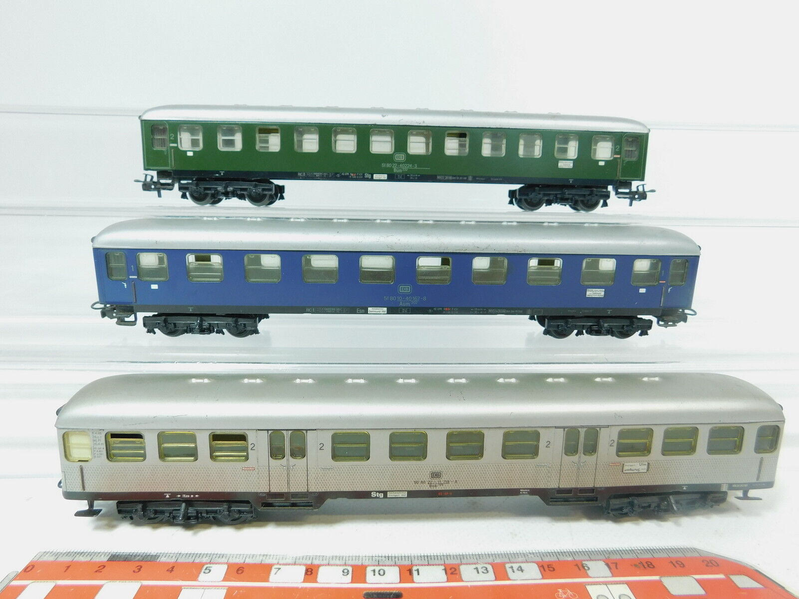 Az495-1x Primex Märklin h0 ac cars DB  4012+4011+22-11 719 bnb 720