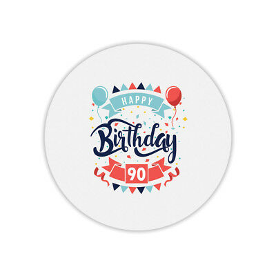 2019 Moda Tapis De Souris Rond Happy Birthday 90 Aspetto Attraente