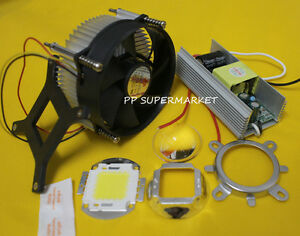 100W-100Watt-High-Power-White-LED-Light-Heatsink-Cooler-100W-LED-Driver-LENS