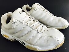 Vtg NIKE AIR ONE Men's Sneakers US 8.5 White Leather Running Trainer Shoes