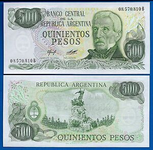 Argentina-P-303a-500-Pesos-Year-ND-1977-1982-Uncirculated-South-America