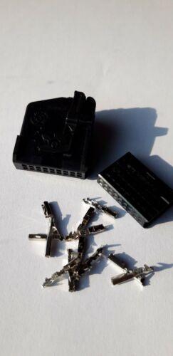 MQS conector carcasa 18 pol negro /& MQS contactos VW AUDI para RNS MFD