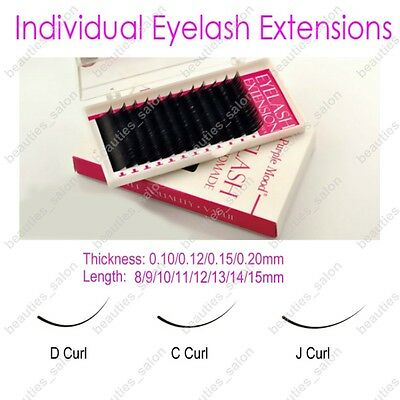 8-13mm 0.1/0.12/0.15/0.2mm C/D/J Curve Individual False Eyelash Extension Curl