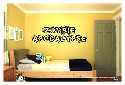 Zombie Apocalypse WALL VINYL ART DECAL 36X12
