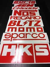 9 Car Sponsor Decal Pack RED Color! JDM Racing Stickers