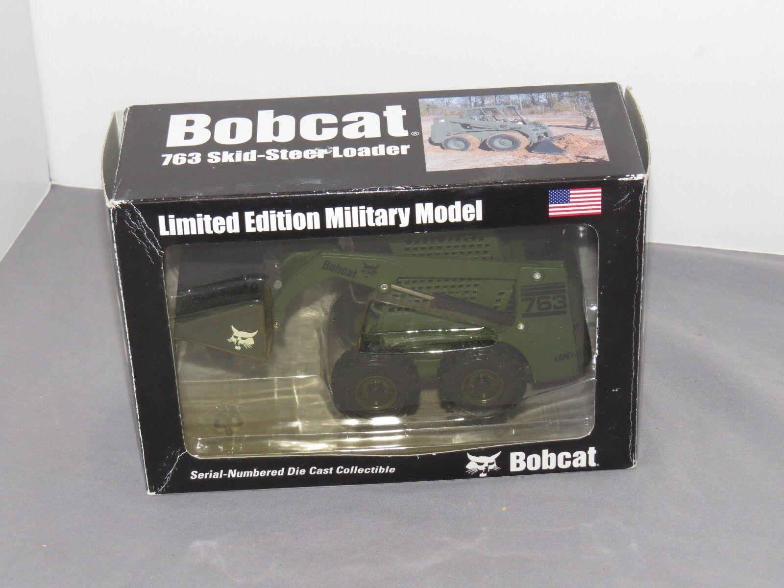 Vintage Bobcat 763 Loader Military Version 1 25 Scale Diecast Model NIB RARE