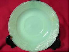 Fire King Green Jadeite/Jadite JANE RAY Ribbed Back Saucer/s Only (loc-sau29)