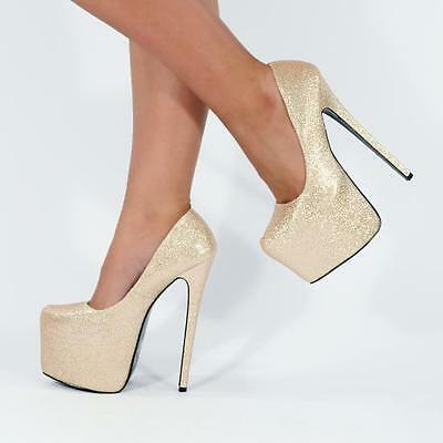 HIGH HEEL STILETTO COURT SHOES CONCEALED PLATFORMS ULTRA KILLER HEELS  RB1