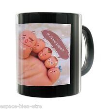 MUG NOIR  tasse noir, personnalisé avec votre PHOTO, TEXTE ET LOGO