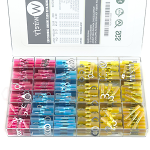 Marine 540 PCS Wirefy Heat Shrink Wire Connectors Electrical Terminals Kit