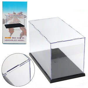 Uk Perspex Acrylic Display Case 31cm H Box Plastic Base