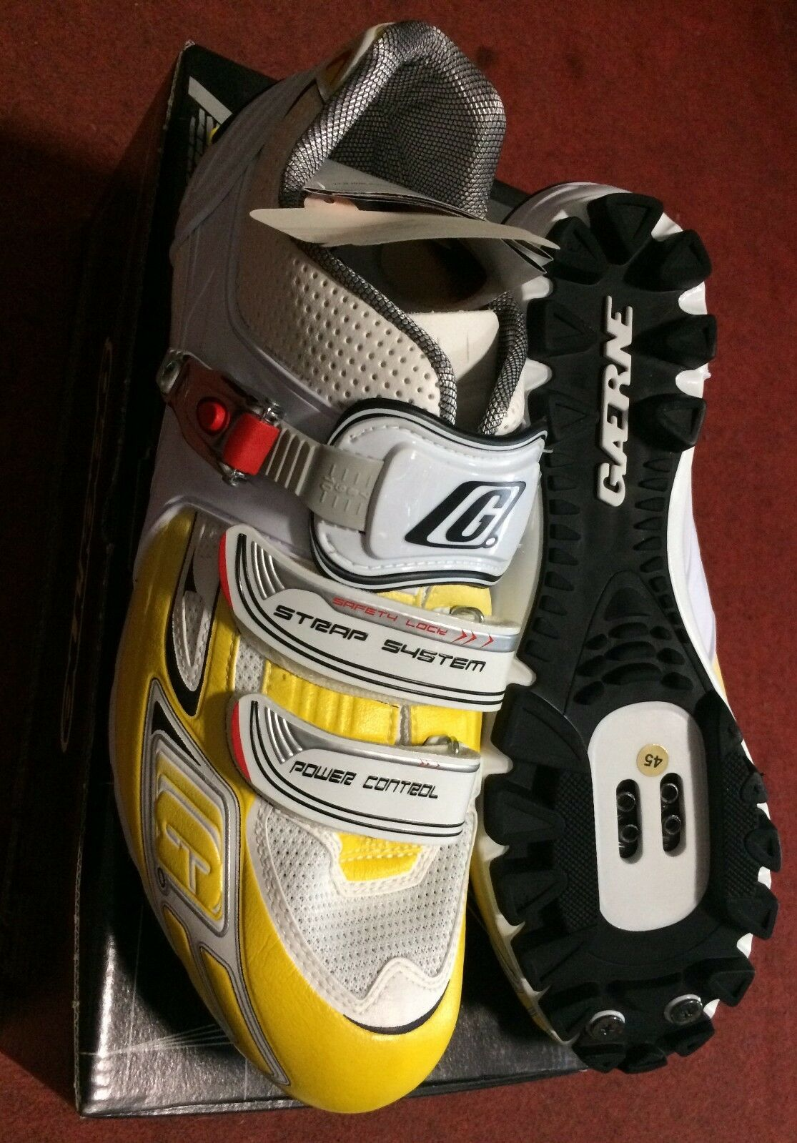 shoes Mountain Bike Gaerne G.BS MTB shoes 45 yellow made in  fahrradschuhe