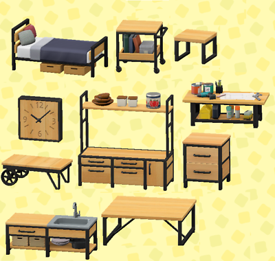 Animal Crossing New Horizons Ironwood 11 DIY Recipe Set ... on Ironwood Furniture Animal Crossing  id=76379
