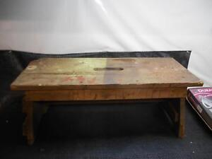 Image Is Loading Antique Primitive WOOD BENCH Step Stool Garden Seat