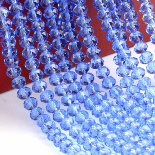 Lots Blotter Faceted Crystal Glass Spacer Beads Jewelry Making À faire soi-même 4//6//8//10mm