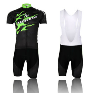 Merida Green Fire Bike Clothing Men s Cycling Jersey   (Bib) Shorts ... 1ebdf62da