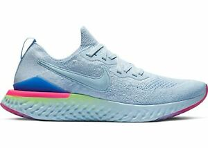 aba6ad8dc80 NIKE EPIC REACT FLYKNIT 2 MEN S RUNNING SHOES SIZE  10 HYDROGEN BLUE ...