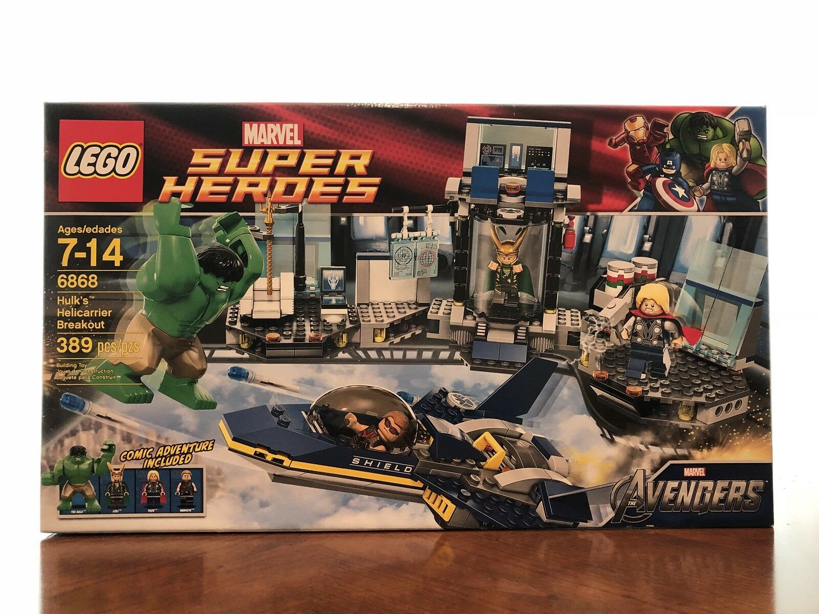 LEGO 6868 Marvel SuperHeroes - Hulk's Helicarrier Breakout(Discontinued Product)