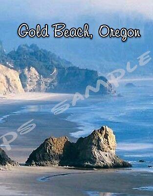 KLAMATH FALLS Oregon Travel Souvenir Flexible Fridge MAGNET Crater Lake