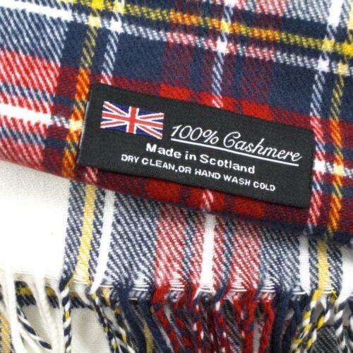 Women Men 100/% CASHMERE Scarf Solid Plaid Wool SCOTLAND High Quality Winter