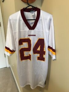 the best attitude 1803e cd304 Details about CHAMP BAILEY WASHINGTON REDSKINS JERSEY SIZE L #24 REEBOK NFL  FOOTBALL WHITE