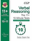 10-Minute Tests for 11+ Verbal Reasoning (Ages 10-11) - CEM Test by CGP Books (Paperback, 2015)