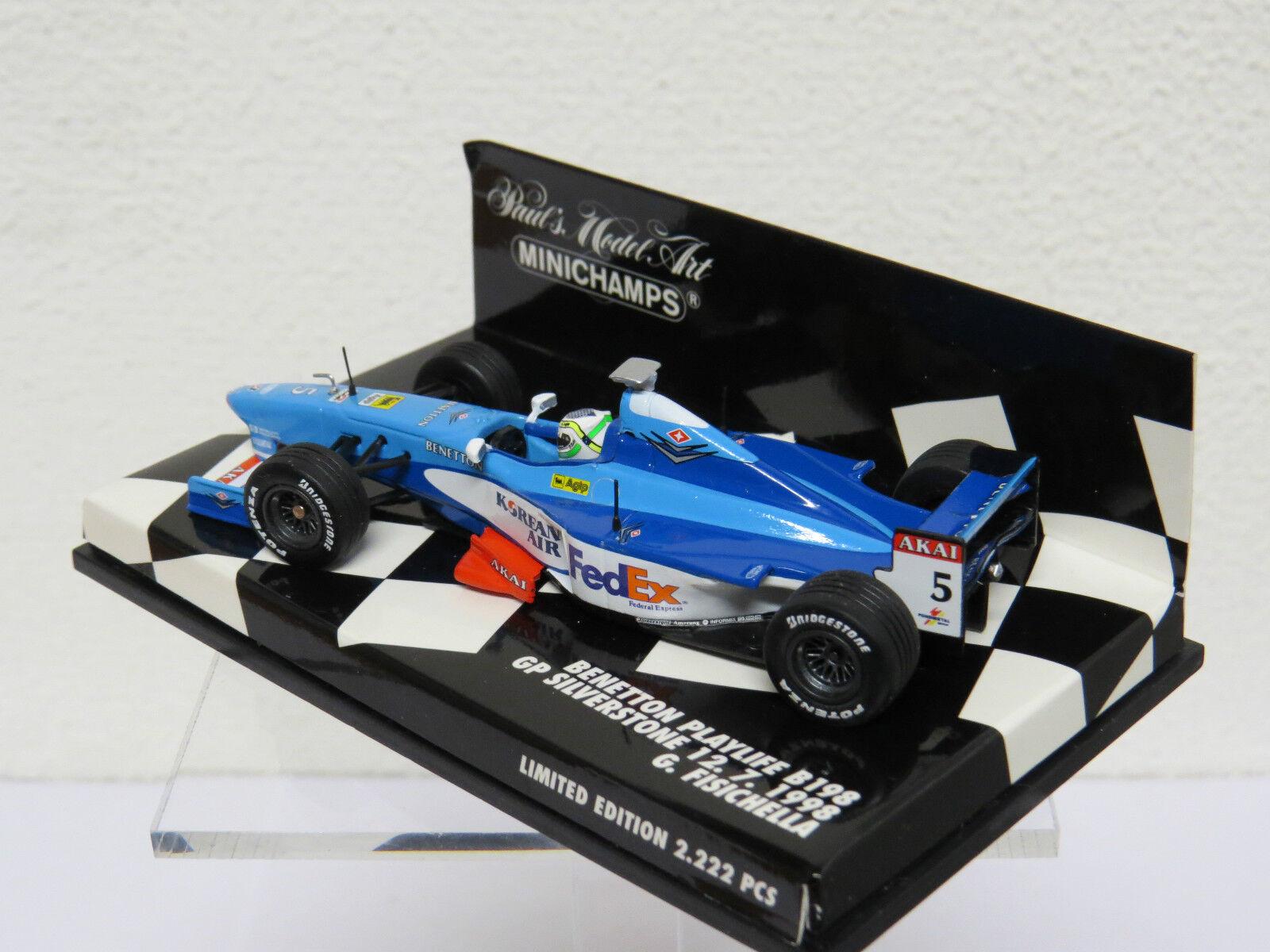 Benetton B198 GP GP GP platastone 12. 7. 1998 G. Fisichella Minichamps Nr. 430980075 974a56