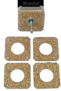 2mm 5pk NEMA 17 Stepper Motor Damper Isolator Cork Gaskets