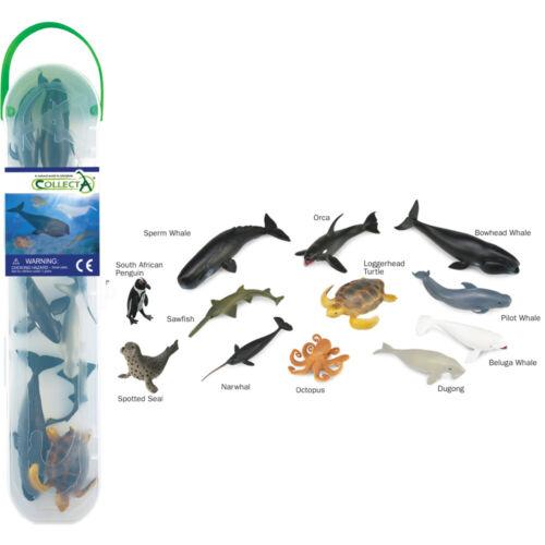 Set di animali marini MINI 12 PEZZI 7-11 cm