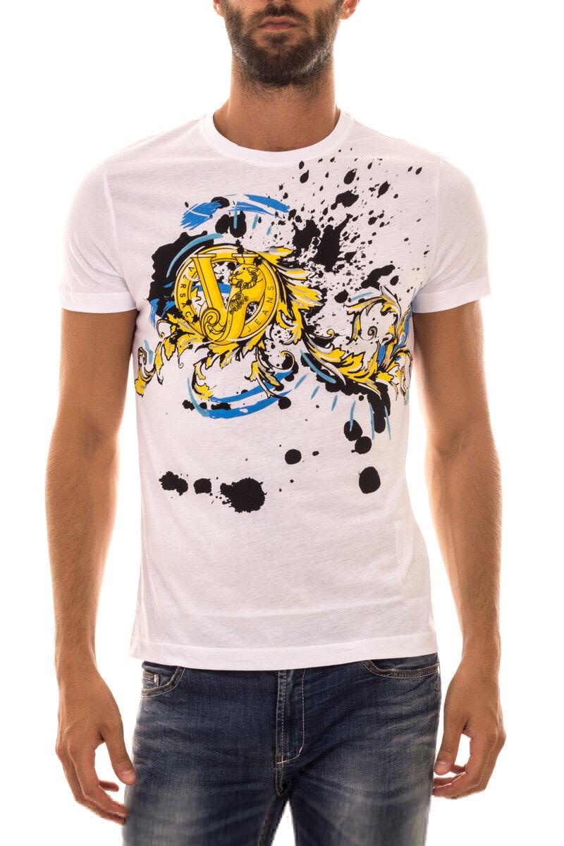 T shirt Maglietta Versace Jeans Sweatshirt Cotone  Herren Bianco B3GOA780 3