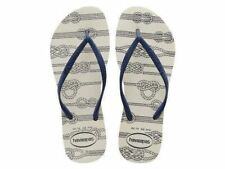 9afbab3e4c657f Havaianas Brazil Slim Nautical White Blue Flip Flop Women Sandals All Sizes