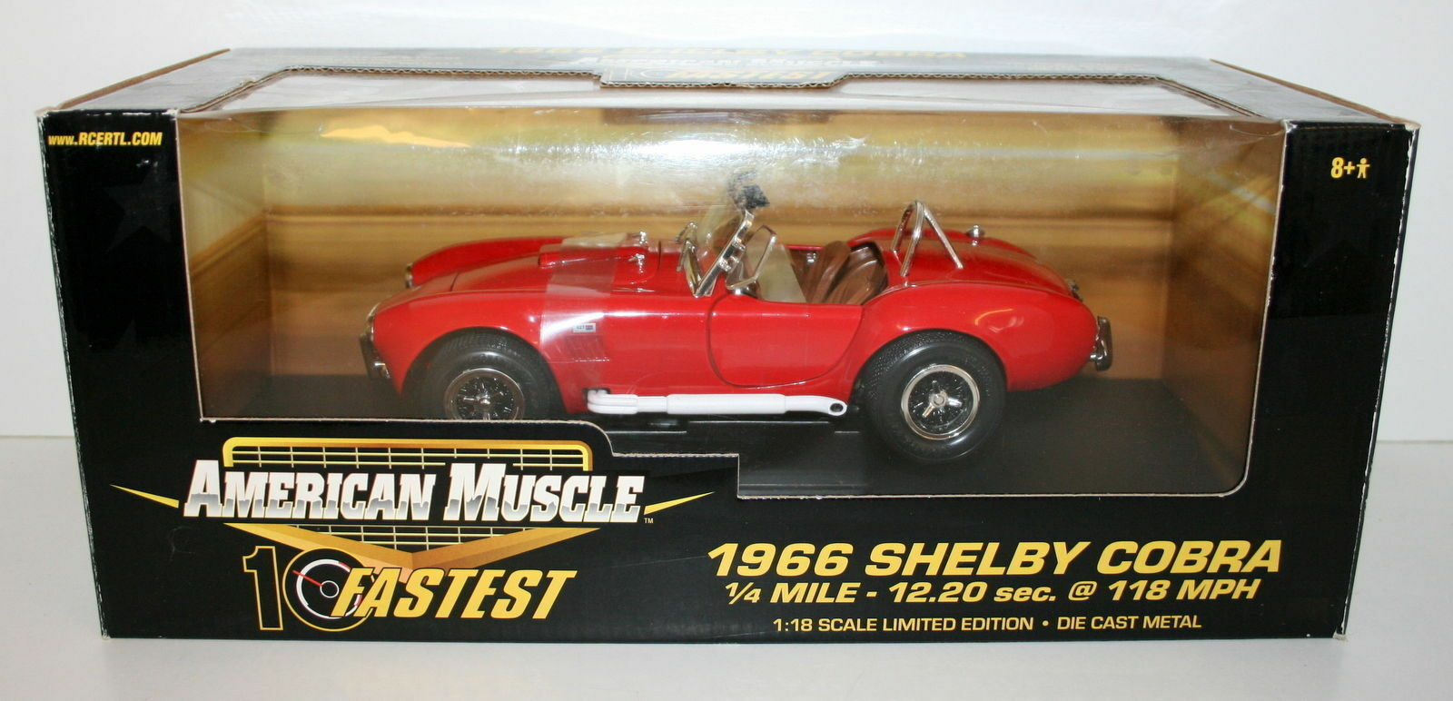 Ertl 1   18 32760 amerikanische muskeln 1966 shelby - cobra - rot