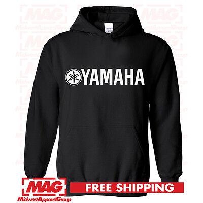 YAMAHA FACTORY RACING HOODIE SWEAT SHIRT BLACK YELLOW YZF BANSHEE