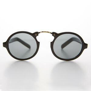 4de030a2ba Image is loading Great-Gatsby-Vintage-Sunglass-Round-Aviator-Black-Frame-