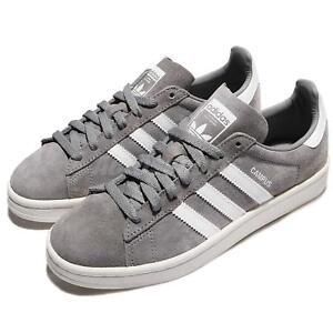 quality design 6d35d 59e4e Image is loading adidas-Originals-Campus-Suede-Grey-White-Ivory-Retro-