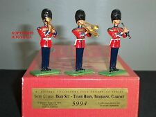 BRITAINS 5994 SCOTS GUARD BAND TENOR HORN TROMBONE CLARINET TOY SOLDIER SET