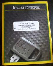John Deere Schlepper 6520 + 6620 + 6820 + 6920 Handbuch