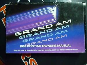 1989 PONTIAC GRAND AM ORIGINAL FACTORY OWNERS MANUAL