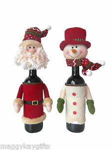 LUXURY-Christmas-Bottle-Wine-Covers-Bags-Santa-Snowman-Table-Decoration