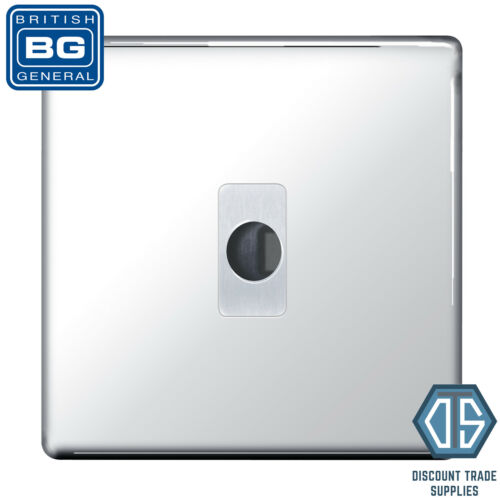BG Nexus Screwless Chrome Poli Flex Outlet Socket fpcflex