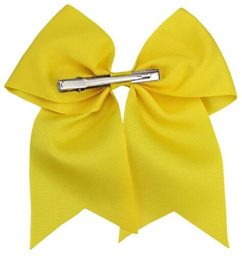 "USA Cheer Bows CLIP Holder Girls 7/"" Large Softball Hair Bow Cheerleading Lot"